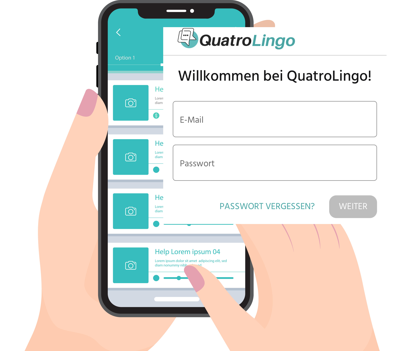 Screenshot von QuatroLingo