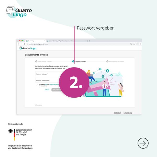QuatroLingo-App Anmeldung